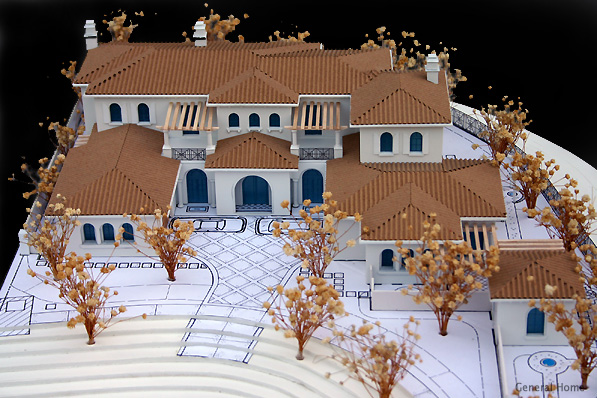 Crystal Cove Architectural Model Image - Birdeye View
