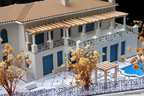 Architectural Model Image - Balcony View