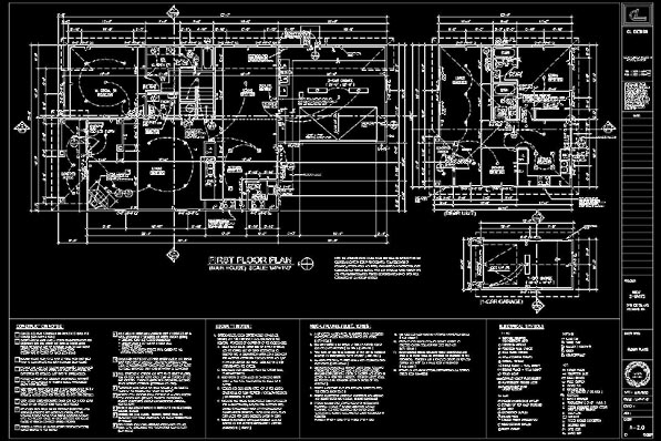 Autocad drafting rosmead homes general home - General notes for interior design drawings ...