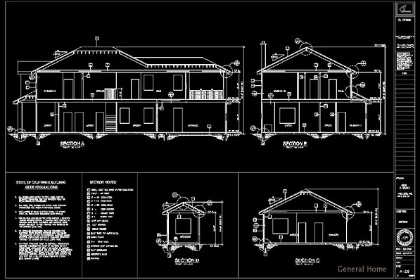 Rosemead Homes Drafting - Building Sections