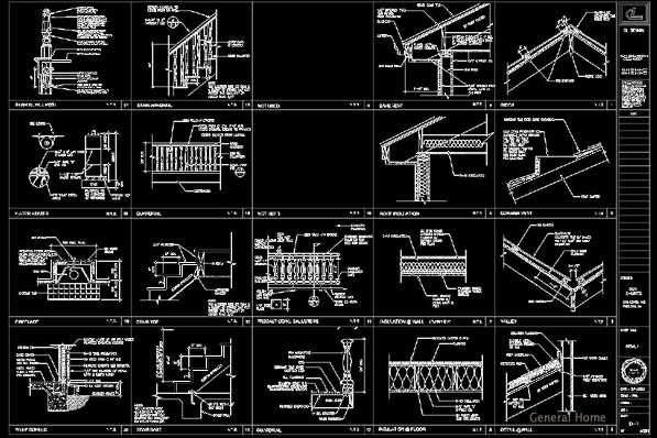 Rosemead Homes AutoCAD Drafting - Architectural Details