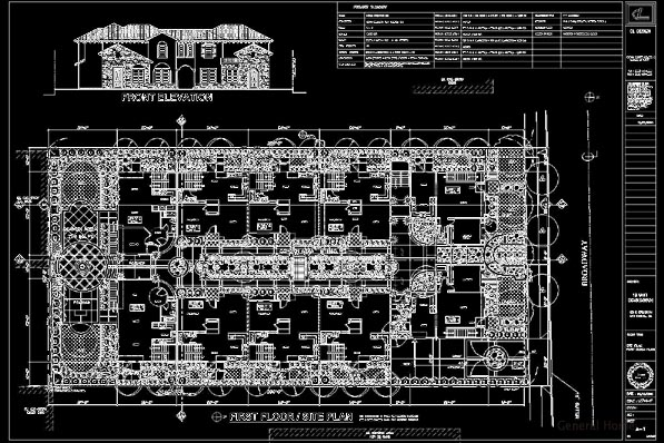 AutoCAD Drafting San Gabriel Condominium Sample - Site Plan