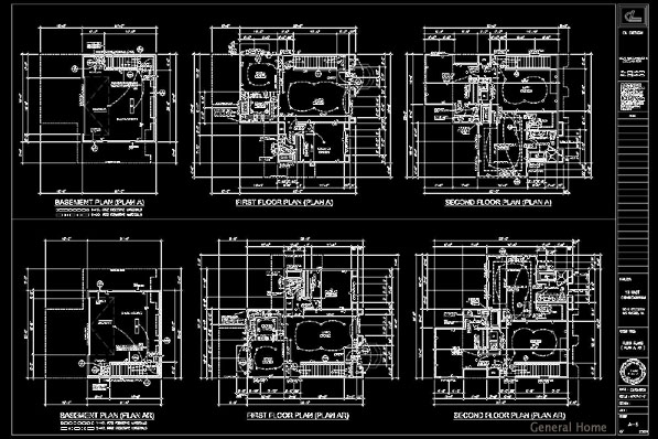 Free Download Dwg AutoCAD restaurant 2d plans and sections