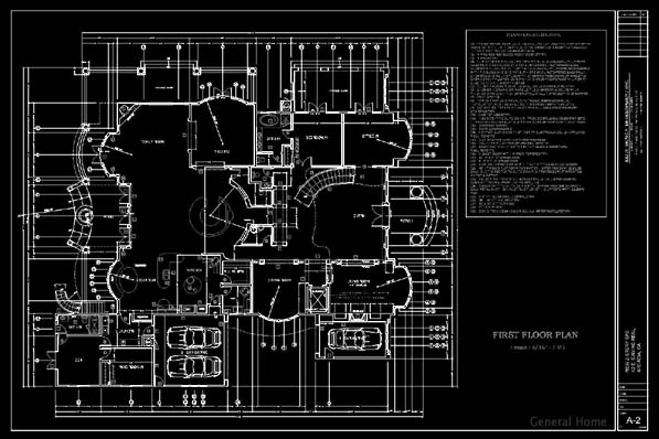 AutoCAD Outsourcing Sample   1st Floor Plan