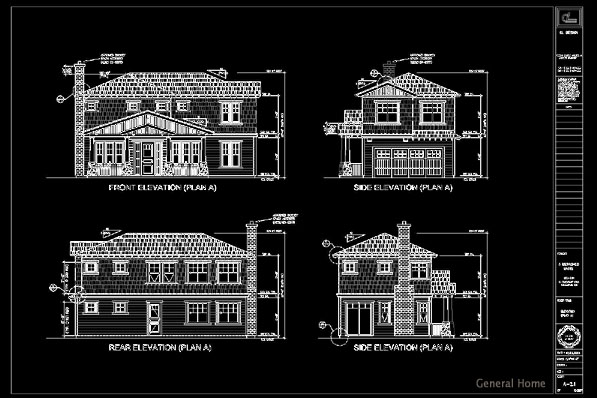 Elevation Plan In Autocad : Autocad outsourcing monrovia pud general home