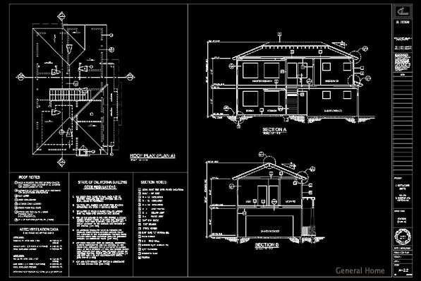 AutoCAD Outsourcing, Monrovia PUD | General Home