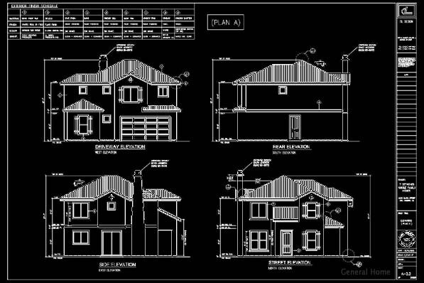 Elevation Plan In Autocad : Sample residential floor plans amp elevation joy studio