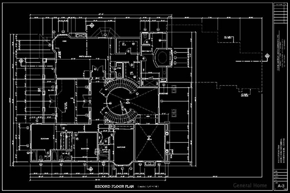 CAD Drafting Sample - 2nd Floor Plan