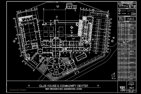 autocad drafting design  china resort hotel