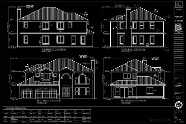AutoCAD Drafting Sample - Building Elevations