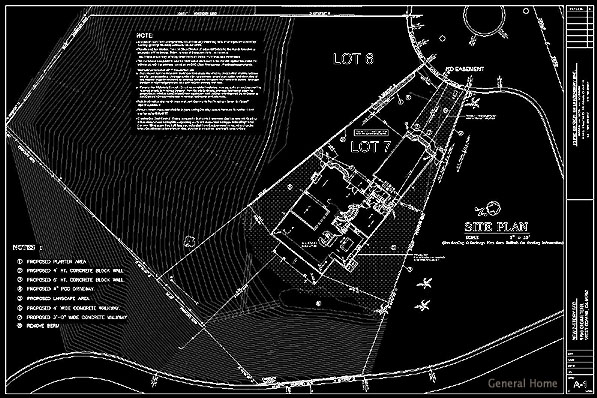 Site Plan Autocad : Autocad drafting west covina home general