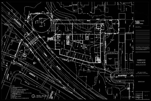 AutoCAD Drafting Sample - Site Plan