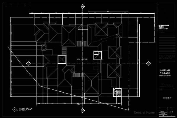 AutoCAD Drafting Sample - Roof Level