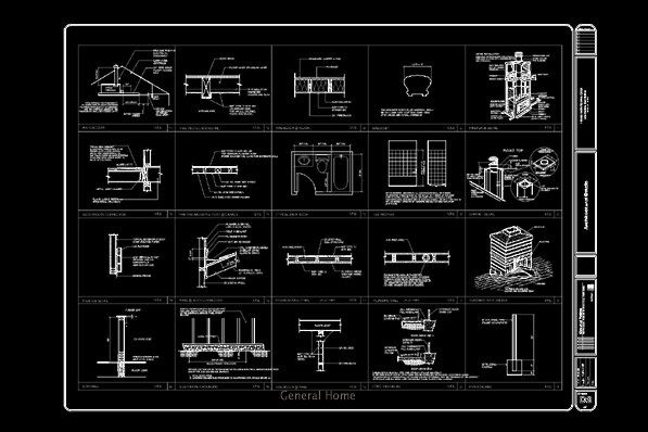 Autocad Drafting Montevina Estate General Home
