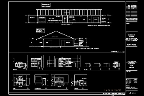 Elevation Plan In Autocad : Autocad drafting pahrump home general