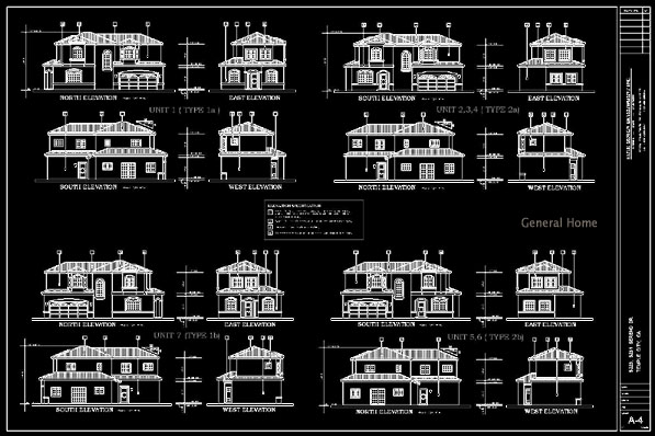 AutoCAD Drafting Temple City PUD General Home