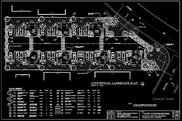 Temple City PUD Sample - Site Plan & Landscaping Plan